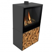 Газовый камин Planika Versal Freestanding 600 with Woodbox